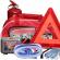 Жилеты, аптечки, огнетушители, тросы, знаки